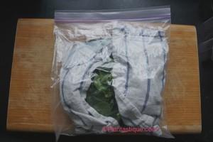 Conserver les légumes frais en 3 étapes. Étape 3: Mettre dans un sachet