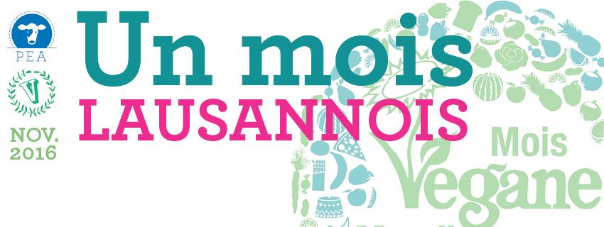 Conférence Véganisme et Nutrition à Lausanne pour le mois Végane