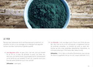 GREEN SMOOTHIE – LES SECRETS DES SMOOTHIES VERTS le fer