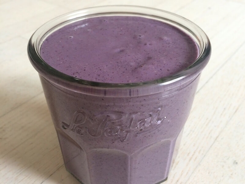 "Recette de smoothie – le ""Blueberry King"""