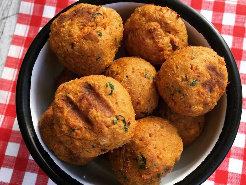 Croquettes de patate douce et millet